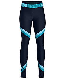 Under Armour Big Girls Armour HeatGear Colorblocked Leggings