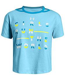 Under Armour Big Girls Run The World-Print T-Shirt