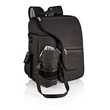 Picnic Time Black Turismo Travel Backpack Cooler