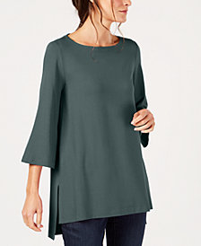 Eileen Fisher Stretch Jersey High-Low Top, Regular & Petite