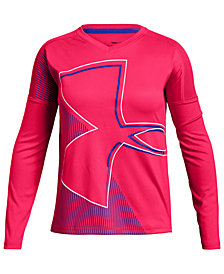 Under Armour Big Girls Tech Logo-Print Mesh-Panel T-Shirt