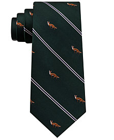 Club Room Men's Standing Fox Silk Tie, Created for Macy's
