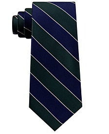 Club Room Men's Framed Bar Stripe Silk Tie, Created for Macy's