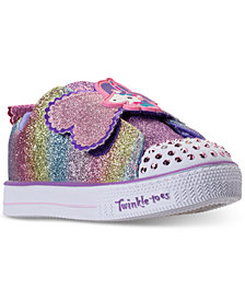 Skechers Toddler Girls' Twinkle Toes: Shuffle Lite - Sparkle Pals Unicorn Light-Up Stay-Put Closure Casual Sneakers from Finish Line