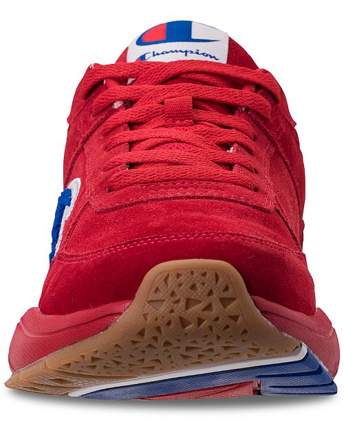 cb5cc99ef ... Champion Men s 93Eighteen Suede Chenille Athletic Training Sneakers  from Finish ...