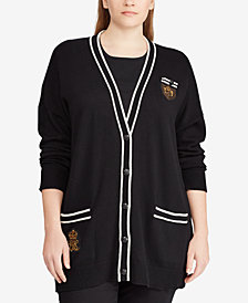 Lauren Ralph Lauren Plus Size Knit Cardigan