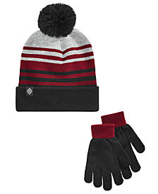 Berkshire Little & Big Boys 2-Pc. Striped Hat & Gloves Set