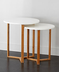 Urban Living Wooden Nested Tables
