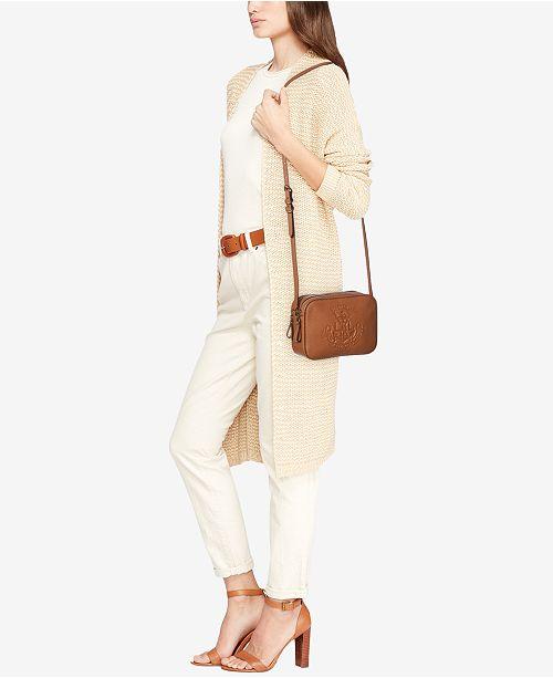 Lauren Ralph Huntley Camera Leather Bag Handbags Accessories Macy S
