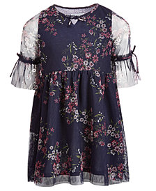 Epic Threads Little Girls Floral-Print Mesh Dress, Created for Macy's