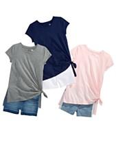 039a2cbbb414 Epic Threads Big Girls Side-Tie T-Shirts   Denim Shorts Separates