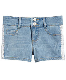 Epic Threads Big Girls Crochet Denim Shorts, Created for Macy's