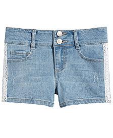 Epic Threads Big Girls Crochet Denim Shorts, Created for Macy's