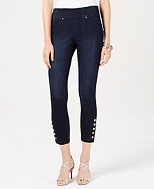 Thalia Sodi Embellished Cropped Jeggings, Created for Macy's