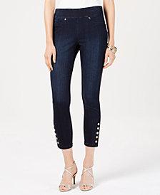 Thalia Sodi Embellished Cropped Jeggings, Created for Macy's