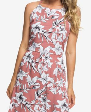 Juniors' Floral-Print Maxi Dress, Withered Rose Lily House