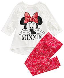 Disney Little Girls 2-Pc. Minnie Tunic & Leggings Set