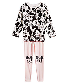 Disney Little Girls 2-Pc. Mickey Mouse Hacci Tunic & Leggings Set