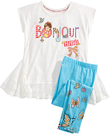 Disney Little Girls 2-Pc. Bonjour Graphic Tunic & Leggings Set