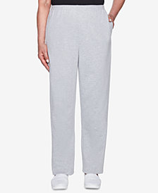 Alfred Dunner Petite At Ease French Terry Pull-On Pants