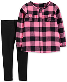 Carter's Baby Girls 2-Pc. Buffalo Plaid Tunic & Leggings Set