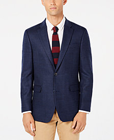 Tommy Hilfiger Men's Modern-Fit TH Flex Stretch Navy/Blue Houndstooth Sport Coat