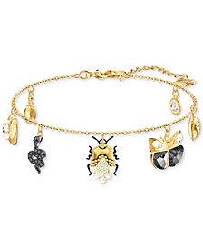Swarovski Two-Tone Crystal & Imitation Pearl Charm Bracelet