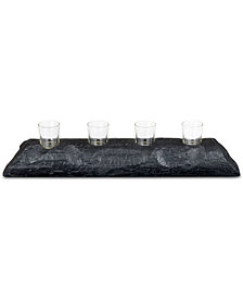 Madison Park Modine Small Wood Candle Holder