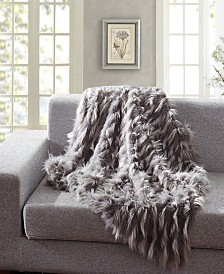Faux Fur Throw Blanket, Super Soft Eyelash Fuzzy Light Weight Luxurious Cozy