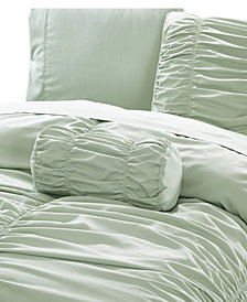 Romantic Ruched Pleat 8-Piece Luxury Unique Comforter Set - Premium Hypoallergenic All Season Comforter Set
