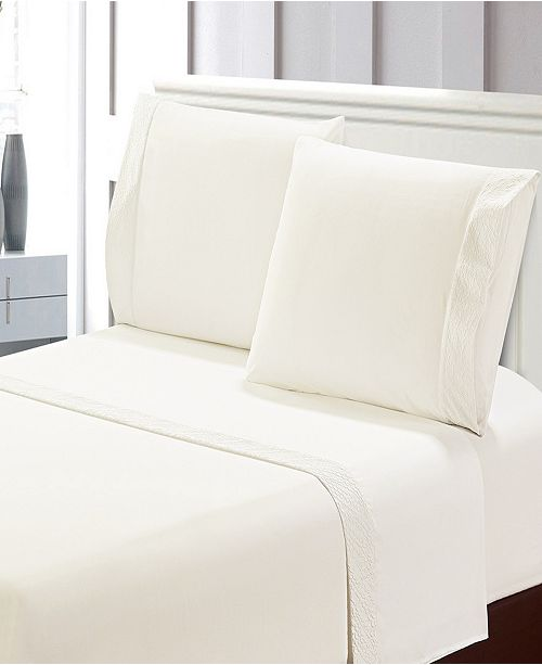 De Moocci Crinkled Microfiber Sheet Set Queen