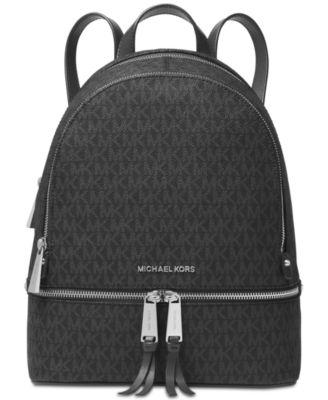 michael kors signature rhea zip medium backpack handbags rh macys com