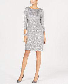 Jessica Howard Sequined Sheath Dress