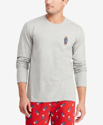 Men's Polo Bear Crew-Neck Cotton Shirt
