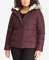 fce990a8f7e Lauren Ralph Lauren Plus Size Faux-Fur Puffer Coat