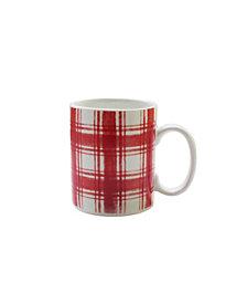 American Atelier Mistletoe Memories Plaid Mug, Created for Macy's