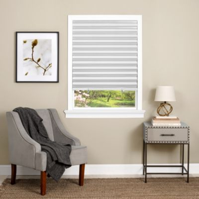 "Cordless 48""x75"" 1-2-3 Vinyl Room Darkening Pleated Window Shade"