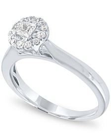Diamond Round Halo Ring (1/3 ct. t.w.) in 14k White Gold