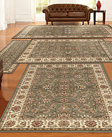 KM Home Tuscany Meshed 5-Pc. Sage Rug Set
