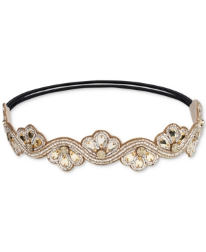 1920s Flapper Headband, Gatsby Headpiece, Wigs Deepa Gold-Tone Crystal  Bead Headband $8.96 AT vintagedancer.com