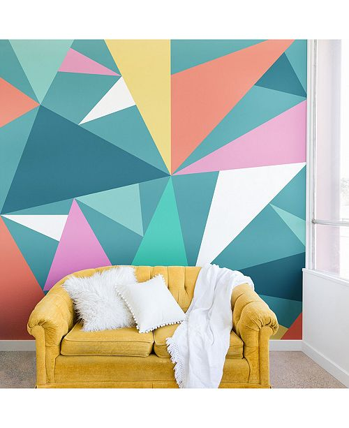Deny Designs Old Art Studio Modern Geometric No.49 8'x8' Wall Mural