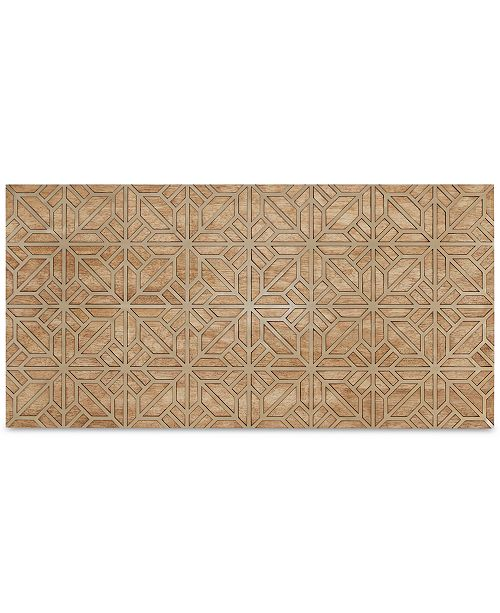 JLA Home Madison Park Signature Mormont Wooden Wall Art with Pattern