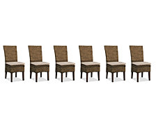 Calypso Dining Chair 6-Pc. Set (6 Woven Side Chairs)
