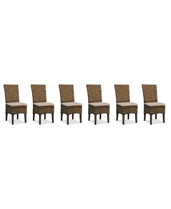 Furniture - Calypso Dining Chair 6-Pc. Set (6 Woven Side Chairs)