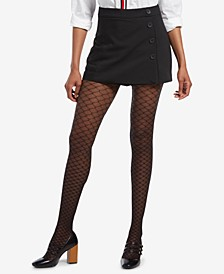 Faux Fishnet Printed Tights