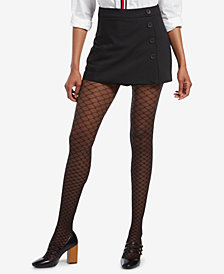 HUE® Faux Fishnet Printed Tights