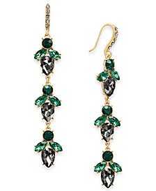 I.N.C. Gold-Tone Crystal Cluster Linear Drop Earrings, Created for Macy's