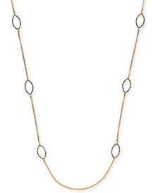 "I.N.C. Gold-Tone Pavé Navette Station Necklace, 36"" + 3"" extender, Created for Macy's"