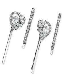 I.N.C. Silver-Tone 4-Pc. Set Crystal Hairpins, Created for Macy's