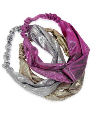 I.N.C. 3-Pc. Metallic Twisted Headbands, Created for Macy's